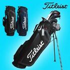 "Titleist 8.5"" Fabric Stand Bag Black Navy Authentic TB7SXFK Caddy Golf r_c"
