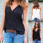 Sleeveless Top Women Fashion Summer Cotton T-Shirt Blouse Vest Casual Tank Tops