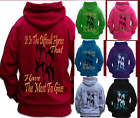 IT IS THE DIFFICULT HORSES QUOTE HORSE RIDING HOODIE Children & Adult