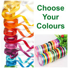 100m (2 x 50m) small reels of Ribbons Gift wrap Florist ribon 5mm BALOON RIBBON