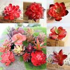 Lots Artificial Mini Plastic Miniature Succulents Plants Art Garden Home Decor