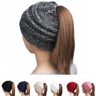 Fashion Winter Women's High Knitting Wool Hat Earpiece Cap with Ponytail Ski Hat