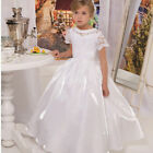 Flower Girls Dress Cap Sleeve Holy Communion Dress Kid's Party Prom Gowns