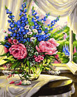 DIY Paint By Number Acrylic Oil Painting On Linen Scenery Flower Home Wall Decor