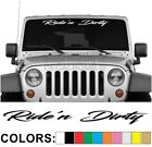 Ride'n Dirty Script Windshield Decal Sticker Slam Turbo Car Truck Diesel Riding