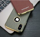 Shockproof Classical Business Pattern Canvas Leather Case Cover For iPhone X 7 8