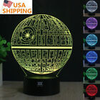 3D Star Wars Death Star Acrylic Table Lamp LED Night Light USB Remote Base Gifts $17.69 USD on eBay