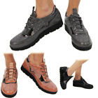 New Girls Women's Ladies Lace Up Glitter Sparkly Trainers Sneakers Pumps Shoes