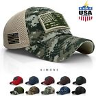 USA American Flag hat Detachable Baseball Mesh Tactical Operator Army cap US