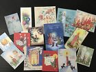 BB56 Lot of 15 Vintage CHRISTMAS CANDLES GREETING CARD DIE CUTS 4 CARD MAKING