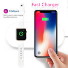 2 in 1 Qi Wireless Fast Charger Charging Mat For Apple Watch 2/3 iPhone Samsung