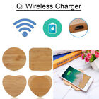 Bamboo Wood Slim Pad Wireless Charger Charging Mat For iPhone X 8 Plus Note 8 S8