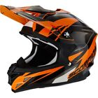 Scorpion VX-15 Evo Krush Black Orange Full Face Motocross Motorcycle Helmet