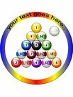 8 Ball Pool Game Balls custom personalised wafer  Icing edible Round Cake topper £3.99 GBP on eBay