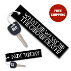 GOD OF DEATH Embroider Motorcycle Motorbike Car Fabric Keytag Key Chain Keyring