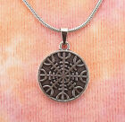 Helm of Awe Necklace, Viking Norse Icelandic Magical Stave Sigil Charm Pendant photo