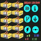 LOT 12V/24V 200AH Electric Car Battery Charger Intelligent Pulse Repair Auto AK