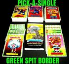 "2018 Garbage Pail Kids We Hate the 80's ""PICK-A-SINGLE"" GREEN SPIT Sticker Card"