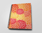 Dahlias summer colors pattern cover spiral notebook