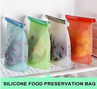 fresh seal bags - 4pc Reusable Seal Silicone Food Snack Bag VacuumSealer Fruit Meat Fresh Storage
