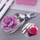 car remote pouch - Bling Key Car Holder Soft Leather Case Bag Keychain Pouch Remote Ring Zipper