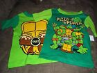 2 NWT Boys 2T Nickeodeon Teenage Mutant Ninja Turtles Pajama Shirts Tops