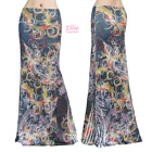 Women's LONG SKIRT Floral Colorful Black maxi (S/M/L/XL/1XL/2XL/3XL)