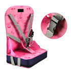 Portable Baby Dinning Booster Seat Travel High Chair Light Weight Foldable Uk <br/> Seat Harness Safety*Blue &amp;Pink*High Quality*Comfortable