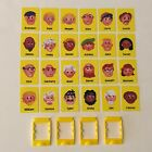 Guess Who? Board Game Replacement Parts Pieces Face Cards and Yellow Card Frames