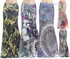 Women's LONG SKIRT Boho Floral High Waist Maxi S/M/L/XL1XL/2XL/3X