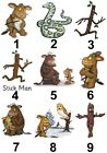 Gruffalo's Child Stick Man Large Sticky White Paper Stickers Labels NEW