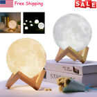 3D Printing Moon Lamp LED Night Lunar Light Touch Color Change USB Recharge Gift