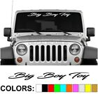 Big Boy Toy Script Windshield Decal Sticker Vinyl Diesel Banner Turbo Car Truck