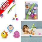 Munchkin Fishin' Rod Bath with Underwater Bobbing Toy for Toddler Baby Infant