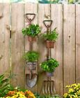 Hanging Rustic Country Garden Planter Shovel Pitchfork Metal Lawn Yard Decor