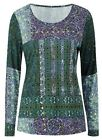 BRAND NEW TOGETHER GREEN TILE PRINT JERSEY TOP STUD EMBELLISHED SIZES 12-24