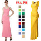 [FINAL SALE]Thanth Side Shirring Waist Sleeveless Maxi Dress