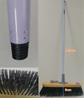 Heavy-duty Super Cleaning Push Broom with 36 cm Wood  Head metai Handle