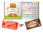 Mothers Day - Personalised Chocolate Bar - Comes with Chocolate - Bear Design