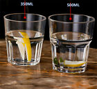 Acrylic Drinking Cups 350ml 500ml Break-Resistant Stackable Acrylic Whisky Beer