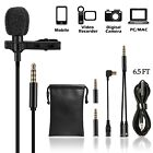 Clip on Lapel Lavalier Microphone Kit Hands-free Audio Recording GoPro SmartPhon