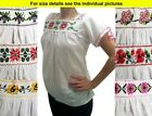 Authentic Hand made embroidered Mexican blouse Purepecha Michoacan