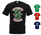 Southside Serpents Logo Printed T-Shirt Riverdale TV Series