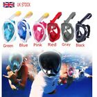 UK Full Face Snorkel Mask Scuba Diving Swimming Breather Pipe For Gopro S/M/L/XL
