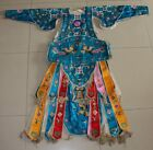 Chinese Old hand embroidery Costume long robe