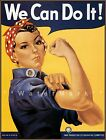 We Can Do It 1943 Rosie The Riveter Vintage Poster Print Retro Style WW2 Gal