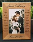 Personalized Engraved // Wedding Vow // Picture Frame