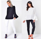 Bell Fluted Sleeve Top Blouse in Many Colours John Zack