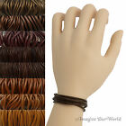 Brown Leather Cord Wrap Bracelet Custom Length to 72 inches Handmade US necklace