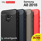 FUNDA TPU Gel para SAMSUNG A8 2018 a5 2018 carbon fiber ESPAÑA rugged case